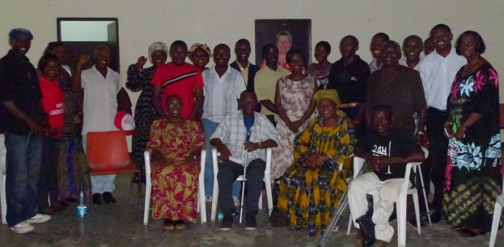 Deelnemers AH-workshop Douala, Kameroen.