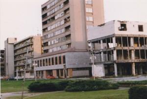 Een kapotgeschoten Vukovar